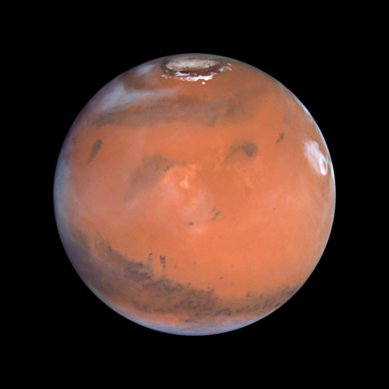 Mars showing North Polar Opening
